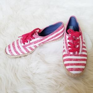 COPY - Keds Champion Red & White Striped Espadril…